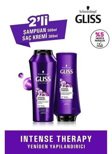 Gliss Intense Therapy Yeniden Yapılandırıcı Set (şampuan 500 Ml + Saç Kremi 360 Ml)  Renksiz
